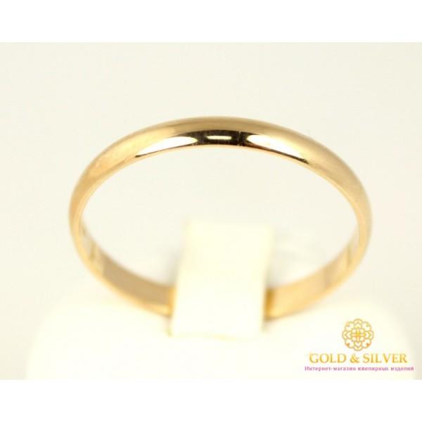 Золотое кольцо 585 проба. Обручальное Кольцо с красного золота. Узкое ok015у , Gold & Silver Gold & Silver, Украина
