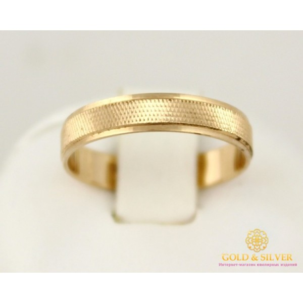 Золотое кольцо 585 проба. Обручальное Кольцо классическое с красного золота. ok102 , Gold & Silver Gold & Silver, Украина