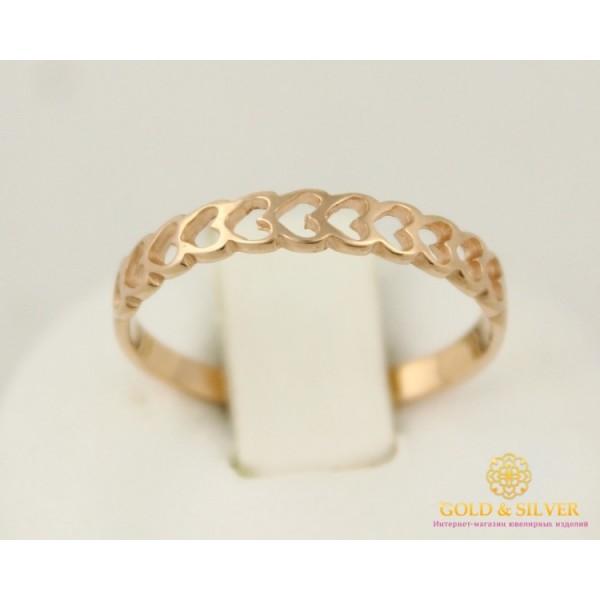 Золотое кольцо 585 проба. Женское Кольцо с красного золота Сердечко. kb005i , Gold & Silver Gold & Silver, Украина