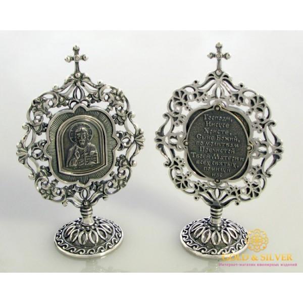Серебряная Настольная Икона Спаситель 61290 , Gold & Silver Gold & Silver, Украина