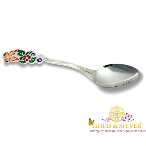 Серебряная детская Ложка Бабочка 08056628 , Gold & Silver Gold & Silver, Украина