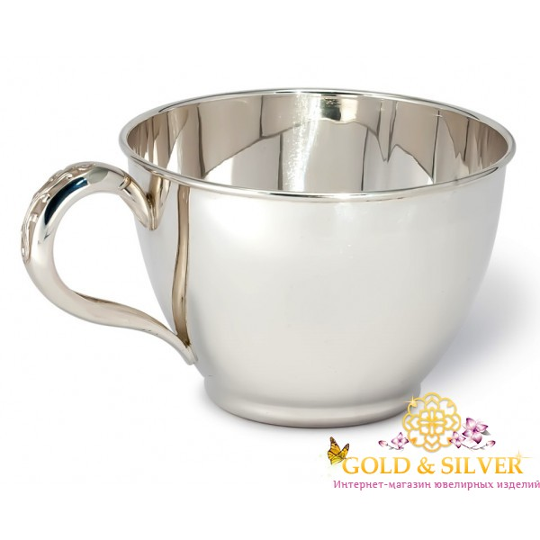Серебряная Чашка для кофе или чая 080488 , Gold &amp Silver Gold & Silver, Украина