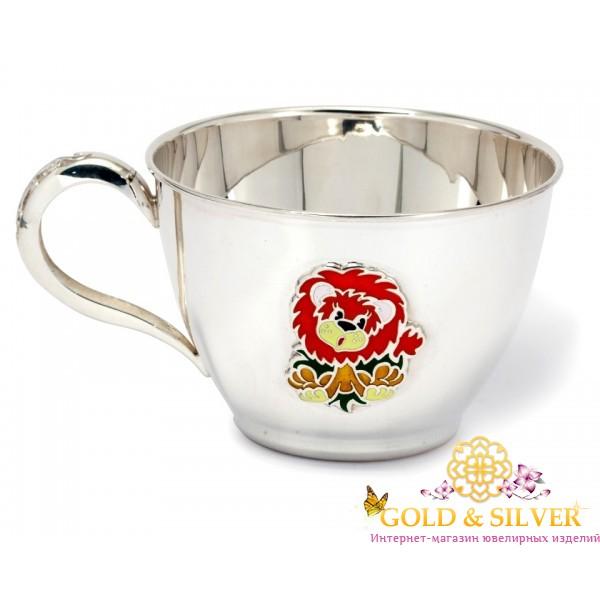 Серебряная детская Чашка Львенок 080492 , Gold & Silver Gold & Silver, Украина