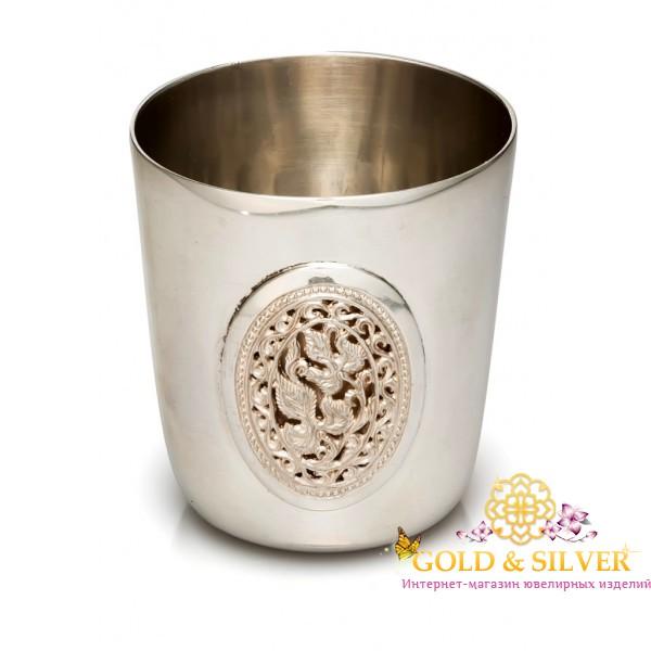 Серебряная Рюмка Стопка 09009 , Gold &amp Silver Gold & Silver, Украина
