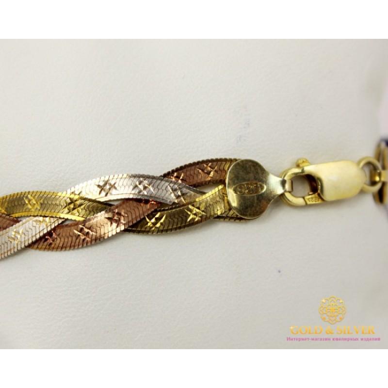 Золотое плетение косичка браслеты