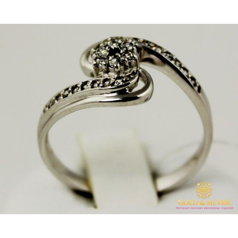 69be7ace07b3 Золотое кольцо 585 проба. Женское Кольцо с белого золота. 3,09 грамма.  kv494010i