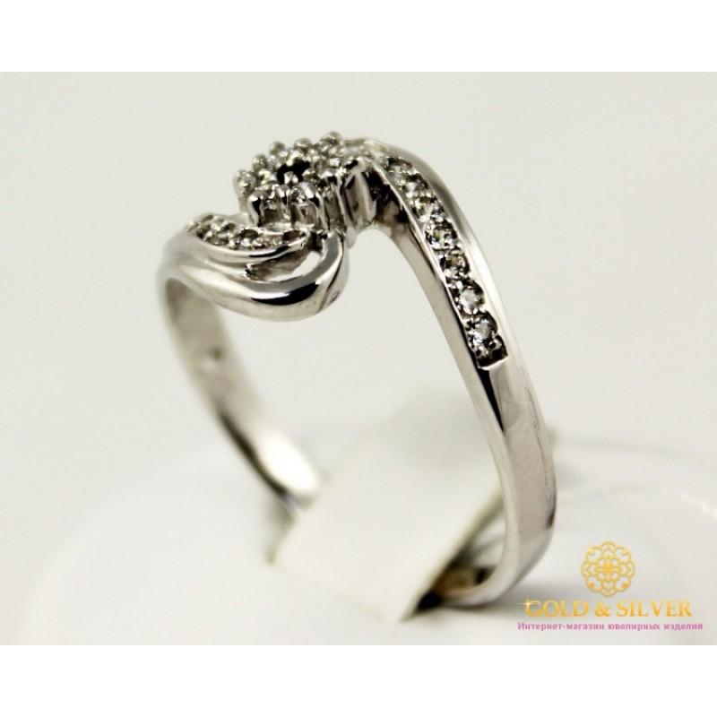 Золотое кольцо 585 проба. Женское Кольцо с белого золота. 3,09 грамма.  kv494010i 70ccd4e676c