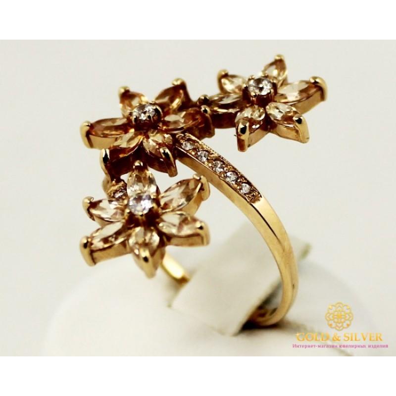 808a0018bbd0 Золотое Кольцо 585 проба. Женское кольцо с красного золота Шампань 11181
