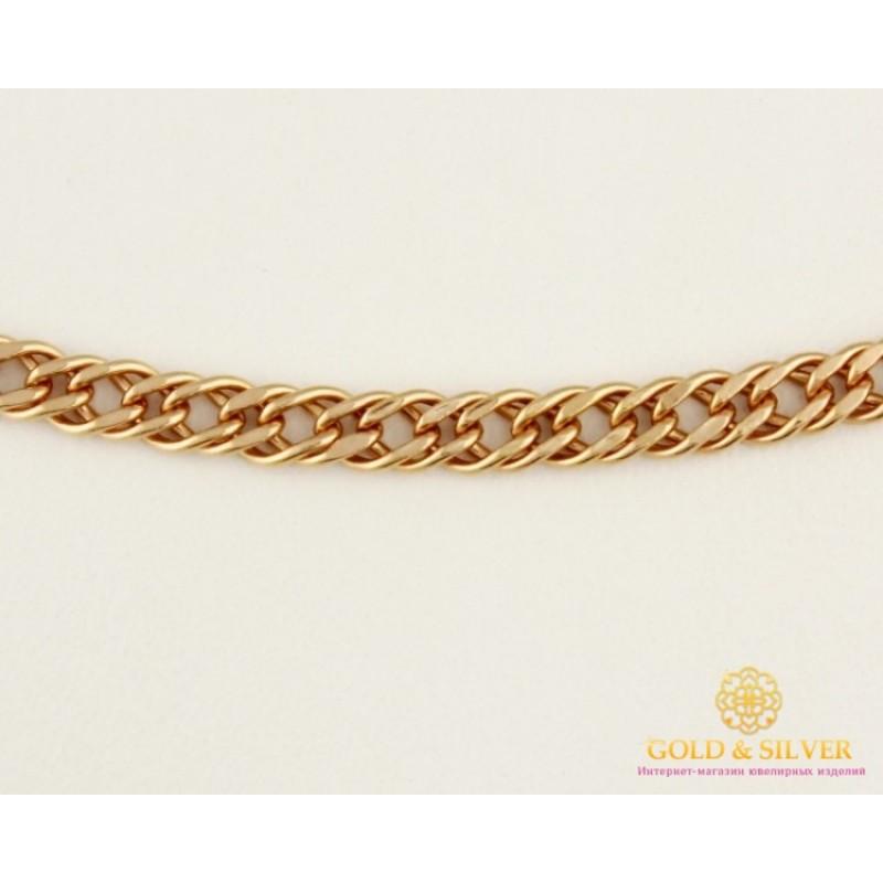 a92a77ab10de Золотая Цепь 585 проба. Цепочка с красного золота, плетение Тройной Ромб,  4,5 грамма, 50 сантиметров. 50106205041n(50)