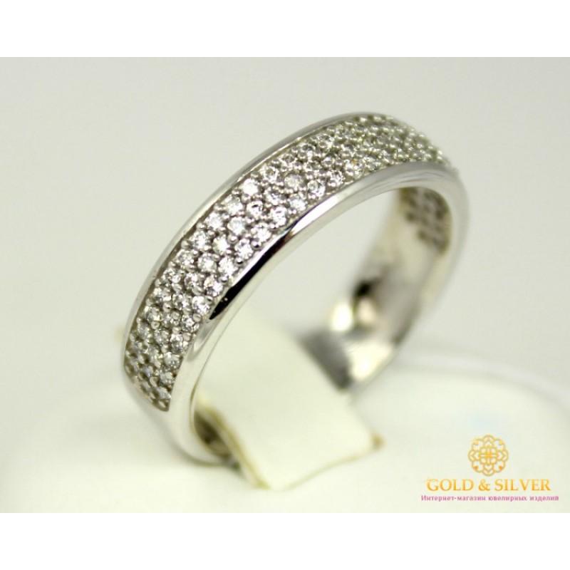Золотое кольцо 585 проба. Женское Кольцо с белого золота. 3,42 грамма.  kv446Bi 768d181e854