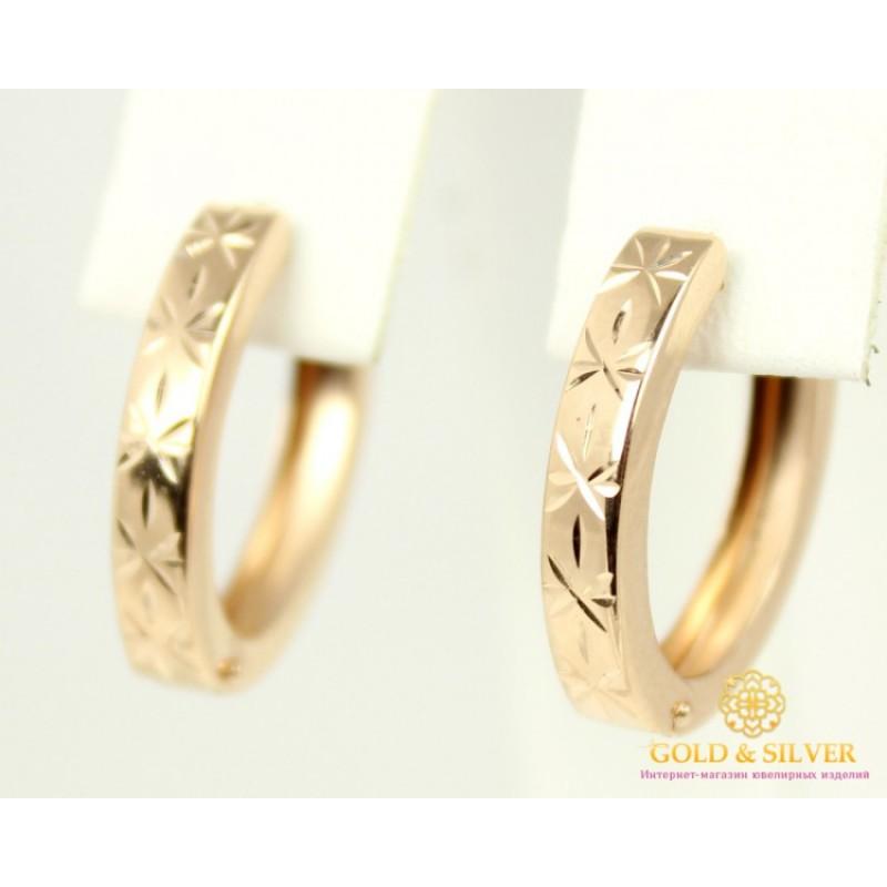 фото золотые сережки без камней