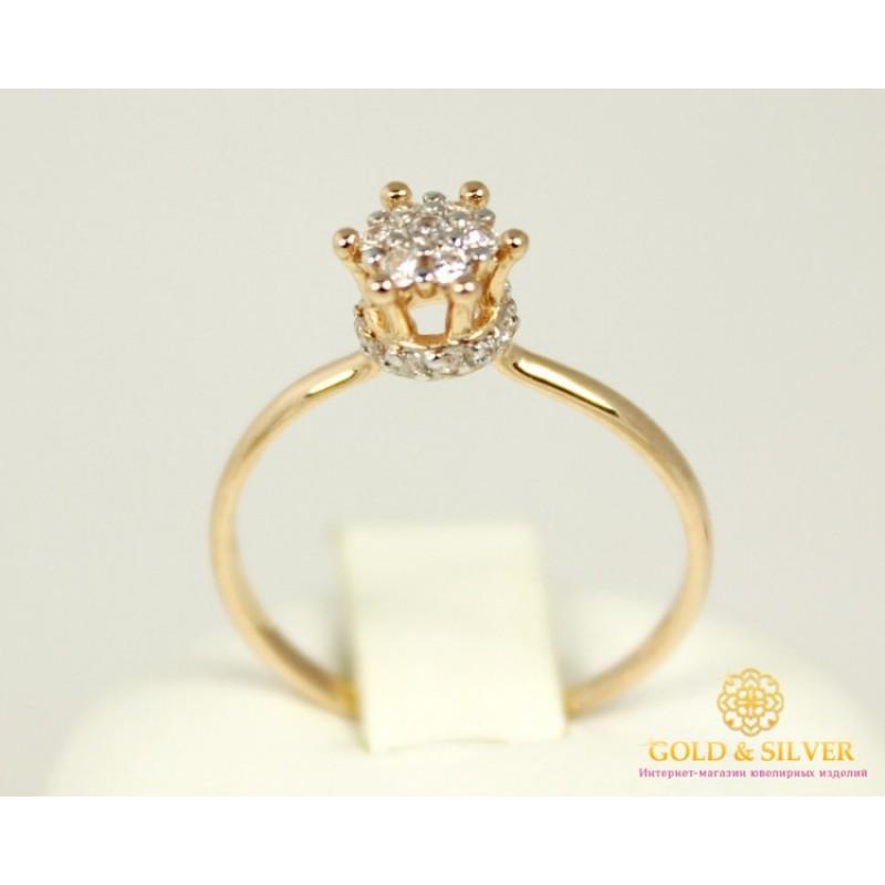 Золотое кольцо 585 проба. Женское Кольцо с красного золота Корона для  принцессы 320950 16da3d5dbb5a2
