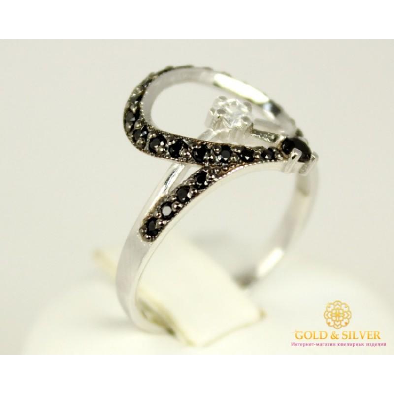 Золотое кольцо 585 проба. Женское Кольцо с белого золота, 2,5 грамма, 17,5  размер 320119 2fb1188e8fe