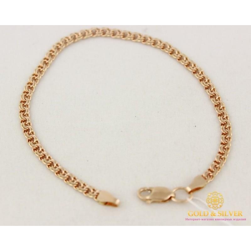 Браслет плетение бисмарк из золота женские