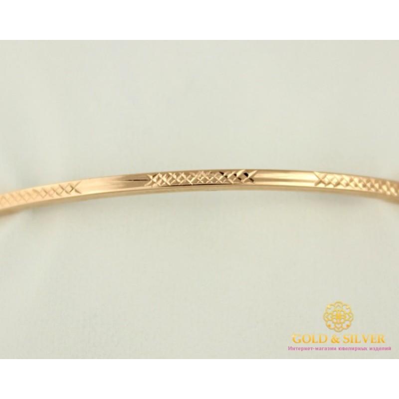 542e97db45e9 Золотой Браслет 585 проба. Женский браслет с красного золота, жесткий  универсальный без камней 4,77 грамма 18 размер