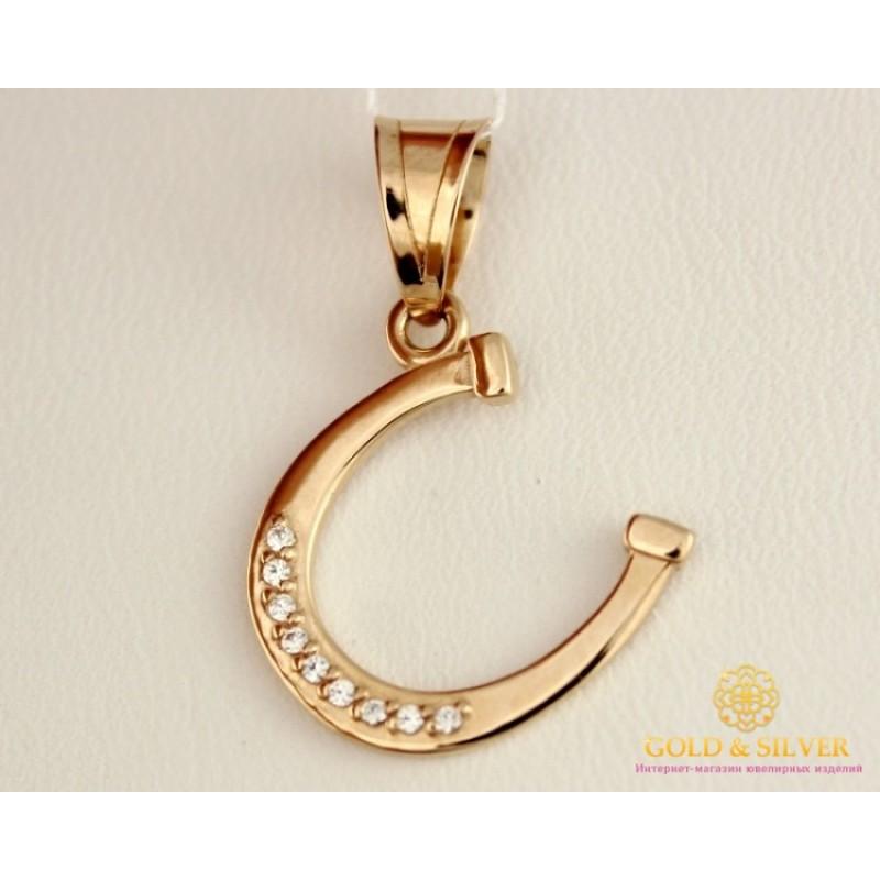 Купить Золотой Кулон 585 проба. Подвес с красного золота, Подкова ... b423895dab2