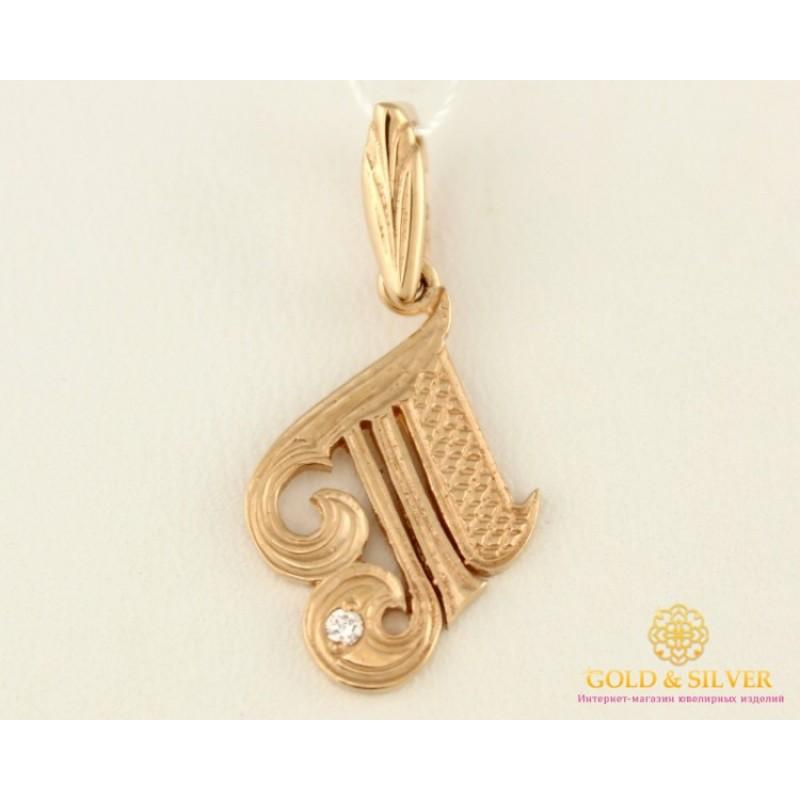 Купить Золотой Кулон 585 проба. Подвес с красного золота, Буква  Т ... 25dea2e5374