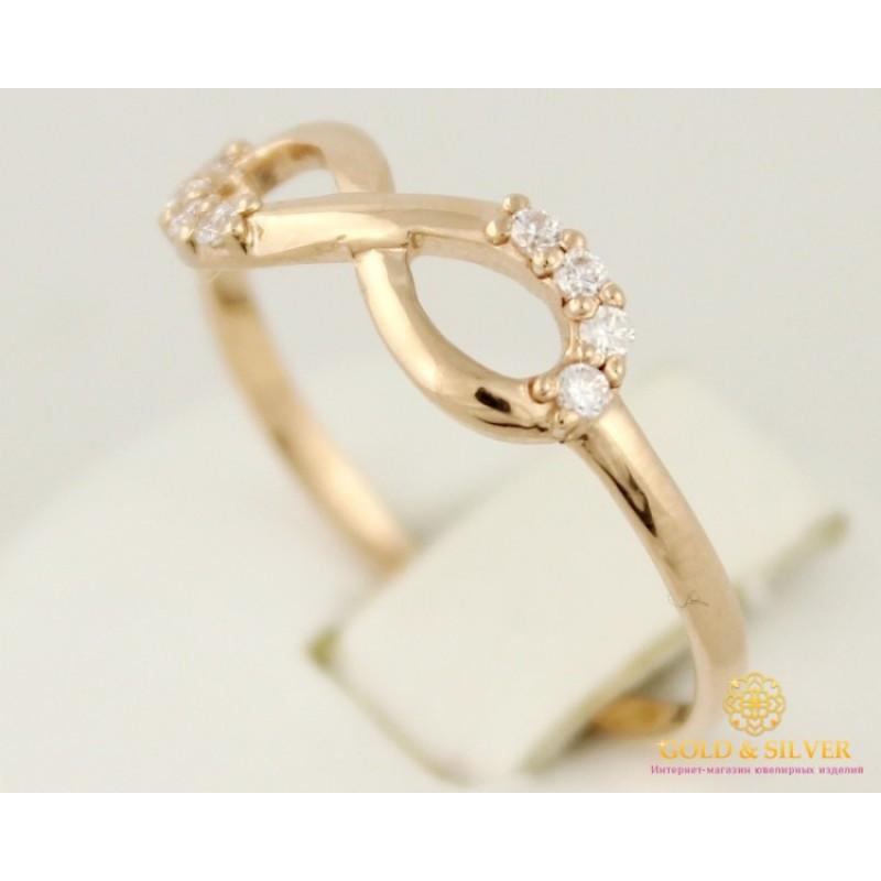Купить Золотое кольцо 585 проба. Женское кольцо Бесконечность ... f86f58d3d48b5