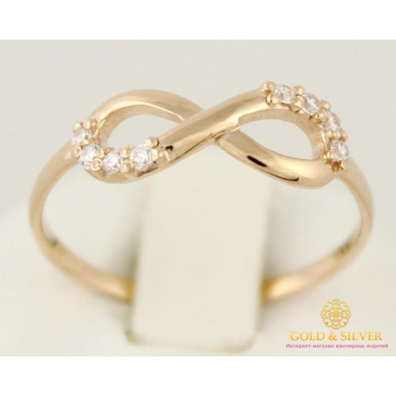 Кольцо со знаком бесконечности золото украина