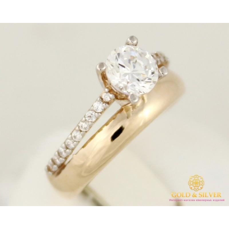 Золотое кольцо 585 проба. Женское кольцо с красного золота с фианитами.  11546 8c9bee3ea5c