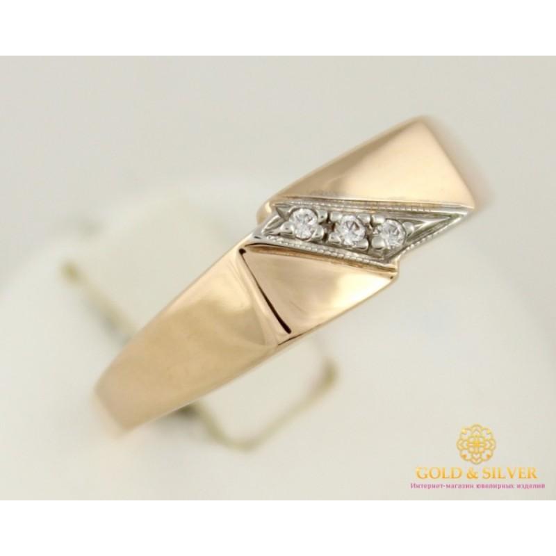 927c0a7d1593 Золотое кольцо 585 проба. Кольцо мужское красное золото с фианитом 11095