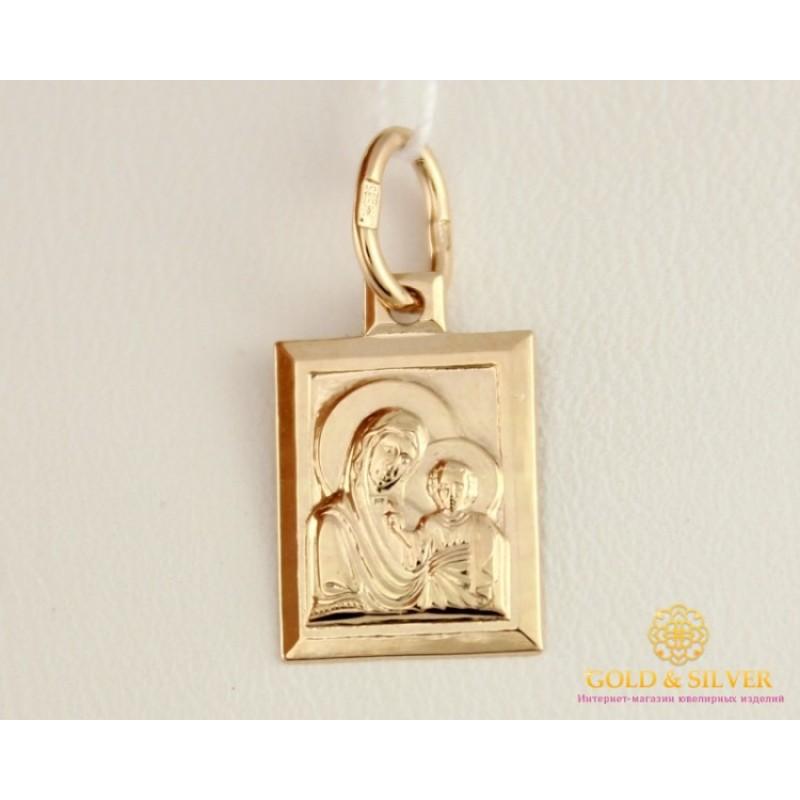 b9b13424bb69 Золотая Нательная Икона 585 проба. Подвес с красного золота, Божья Матерь  100263