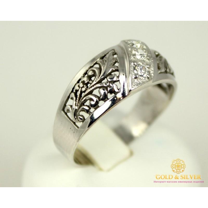 7866bcd282d8 Купить Серебряное кольцо 925 проба. Женское Кольцо Трехкаменка. 1122 ...