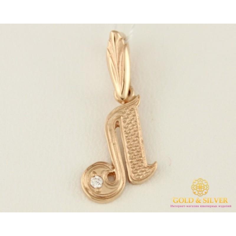 Купить Золотой Кулон 585 проба. Подвес с красного золота. буква  Л ... d8746650de3