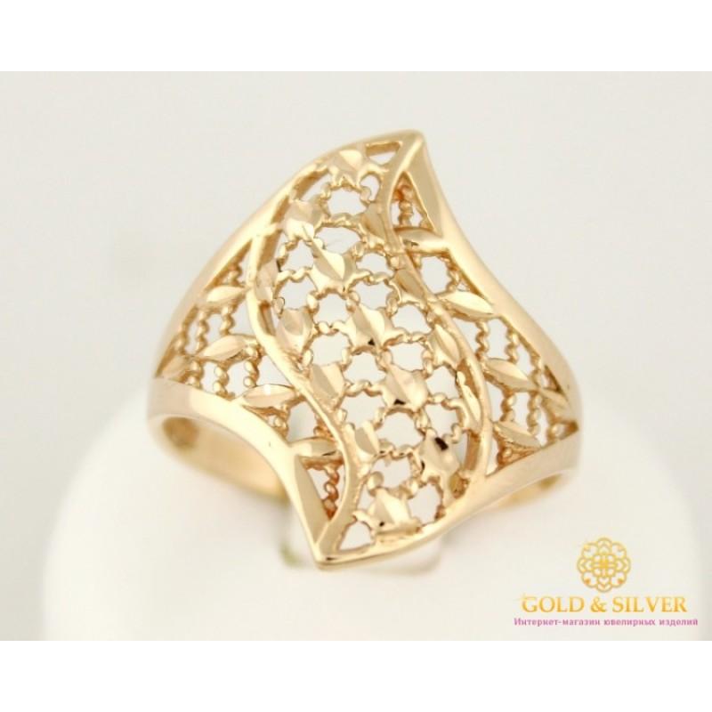 Золотое кольцо 585 проба. Женское Кольцо с красного золота, без вставок.  3,18 грамма. 300306 4ebdf357ac8