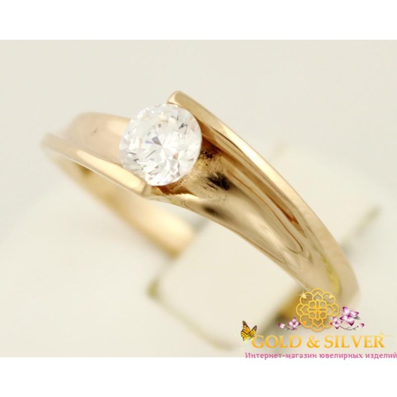 486572c0125a Купить Золотое кольцо 585 проба. Женское Кольцо Ясень. 3,11 грамма ...