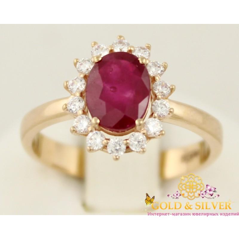 фото кольцо с рубином золотое