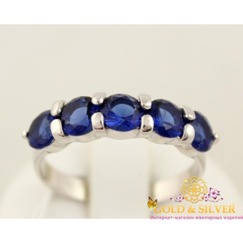 29fcf85d08a3 Купить Серебряное кольцо Палитра с синим камнем 1209р! Лучшая цена в ...