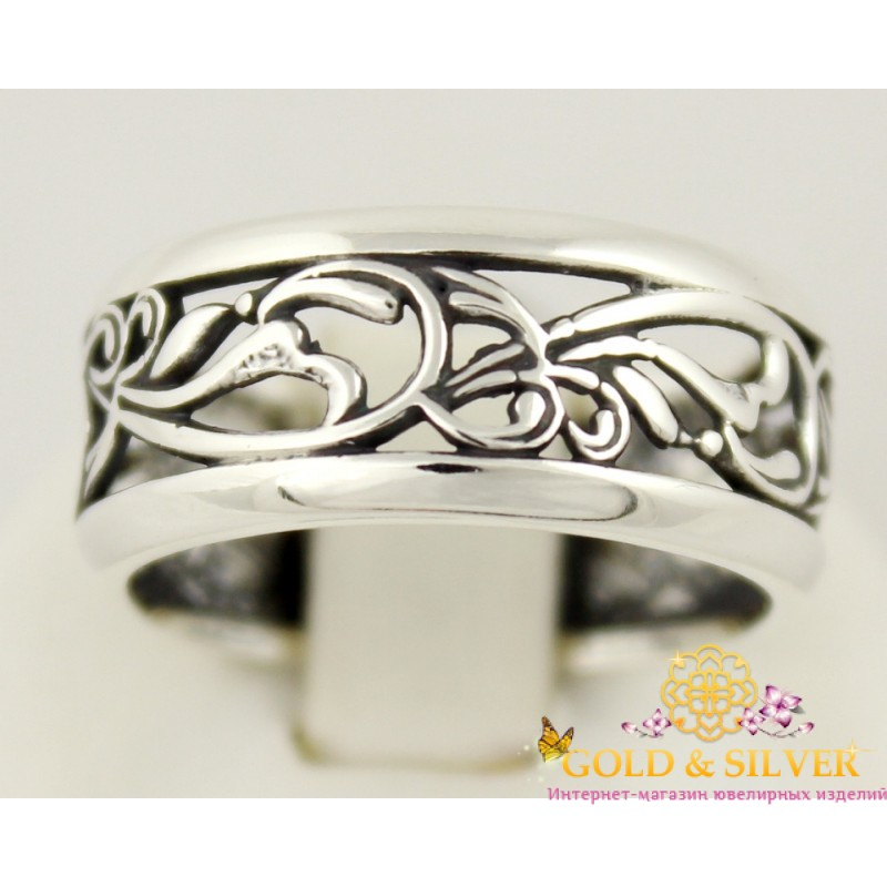 Купить Серебряное кольцо с узором женское из серебра 925 пробы. 1308 ... a47b8af14d71c