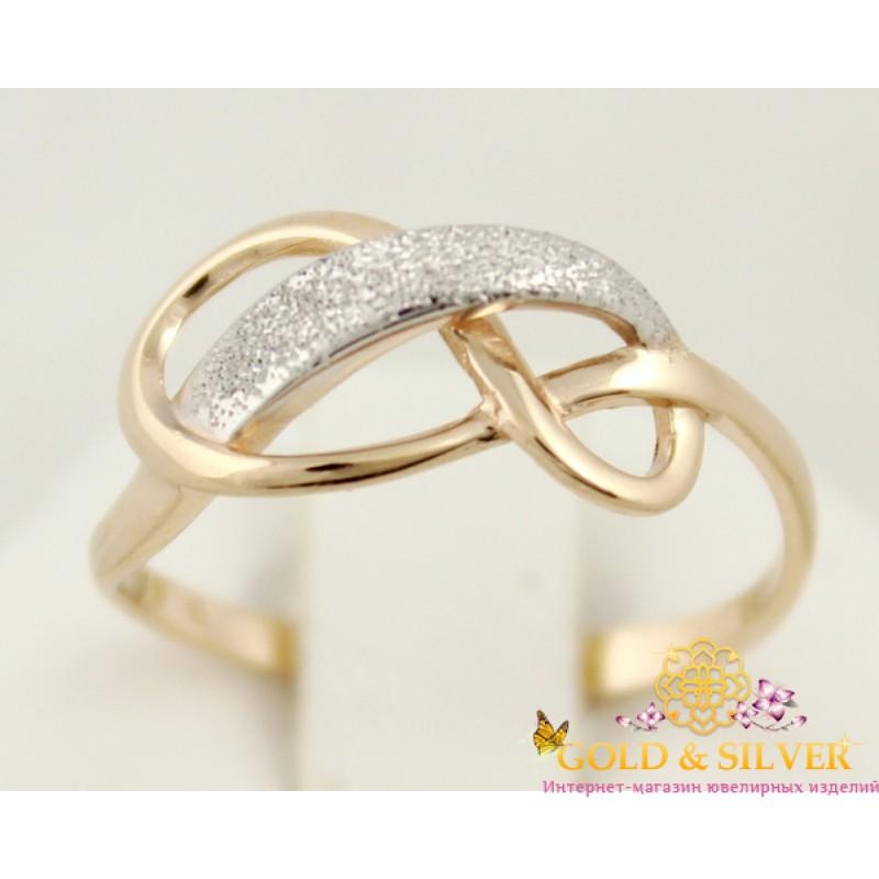 Купить Золотое кольцо Бесконечность женское золотое 300354! Лучшая ... 5ed6d9fe4115b