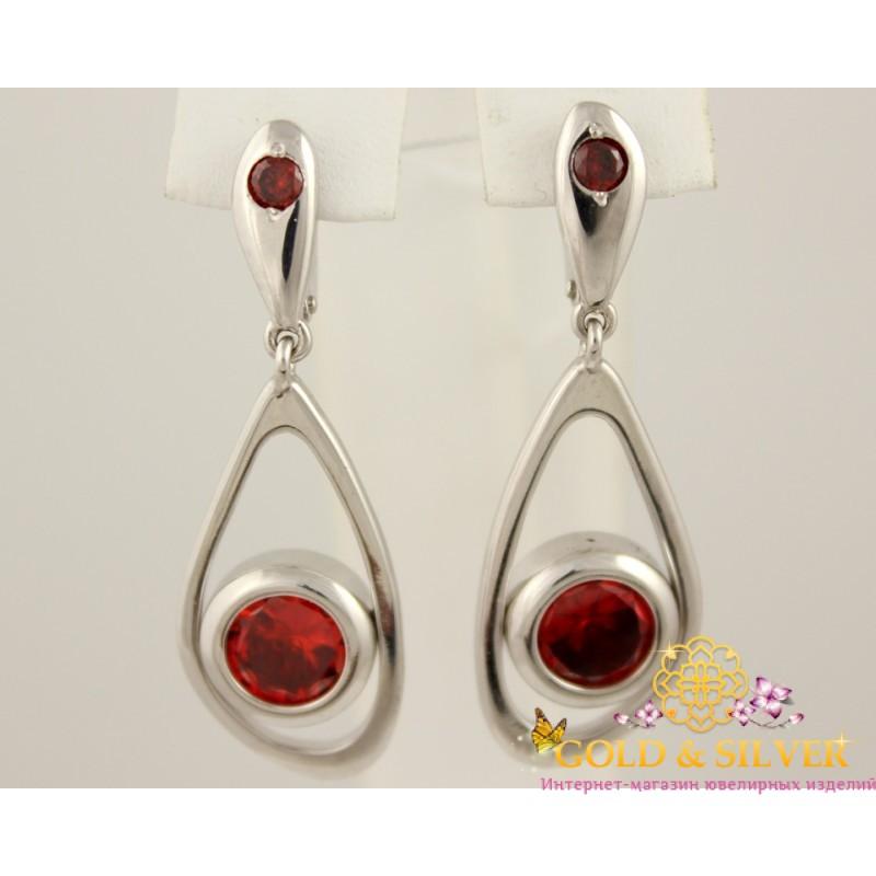 3302bc6117ef Купить Серебряные серьги с красным камнем 430123ск! Лучшая цена в ...