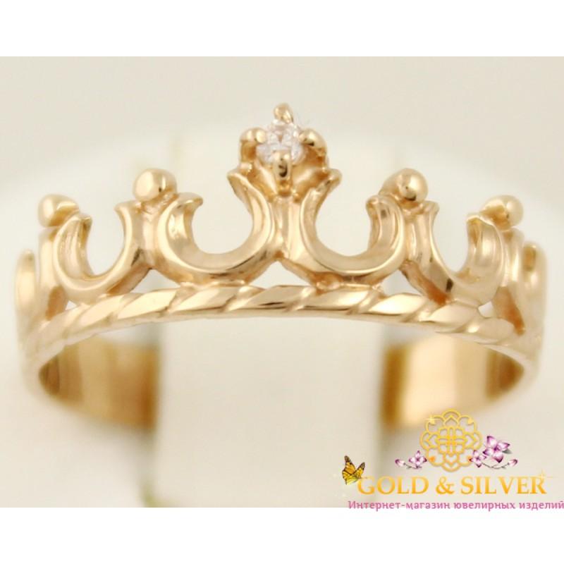 Купить Золотое кольцо 585 проба. Женское кольцо Корона 20640f9eb6690